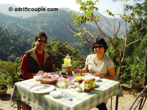 Enjoy breakfast in the outdoors at Park Woods Shoghi.