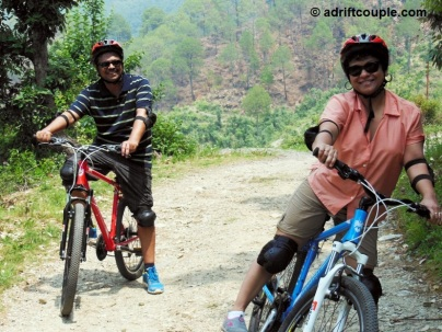 Mountain bicycles at Park Woods Shoghi.