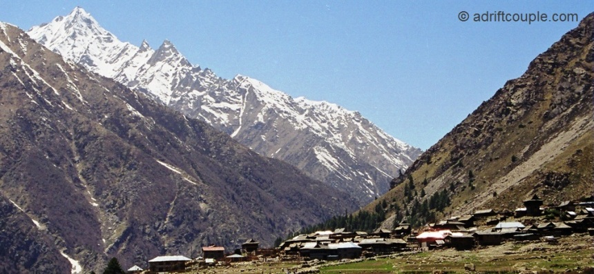 Chitkul, cradled in the lap of snow clad mountains.