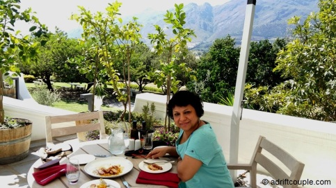 A delicious lunch at Country Kitchen Restaurant of Mont Rochelle, Franschhoek