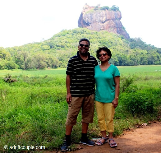 Sigiriya Rock Fortress built atop the plateau which rose 200 meters above the surrounding jungles.