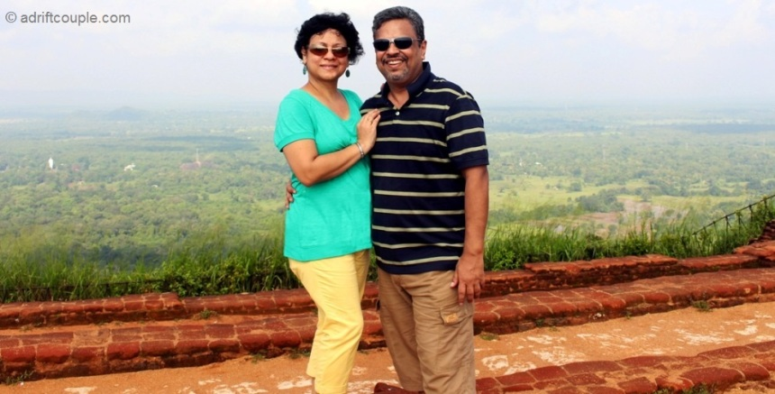 At summit of The Lion Rock Sigiriya, Sri Lanka