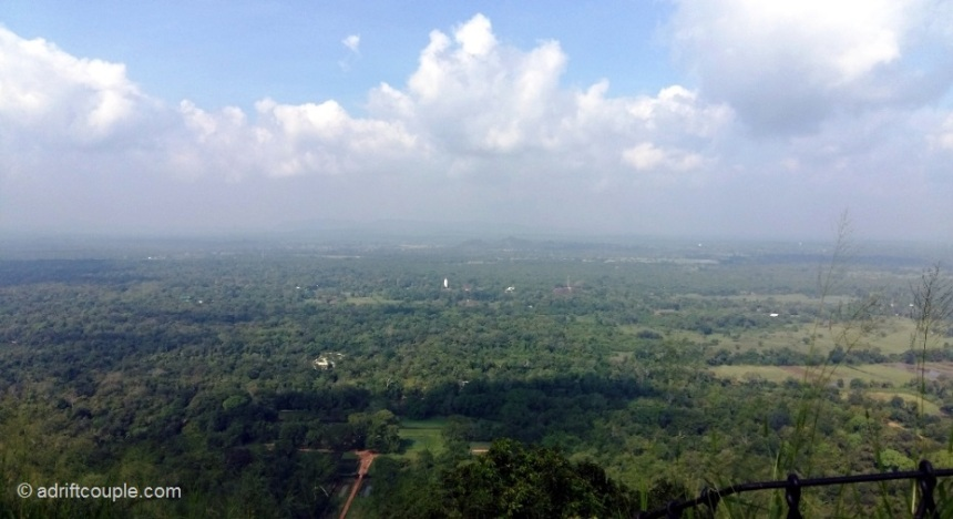 Lovely views from the summit of Lion Rock Sigiriya.