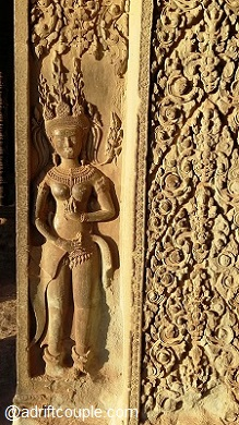The Apsaras were created by the Churning of the Ocean of Milk.