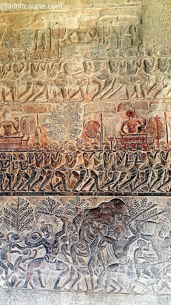 Bas Relief in South Gallery of Angkor Wat – Judgement By Yama; Heaven and Hell