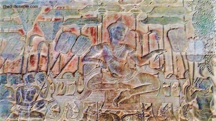 Bas Reliefs Angkor Wat - Suryavarman II holding court.
