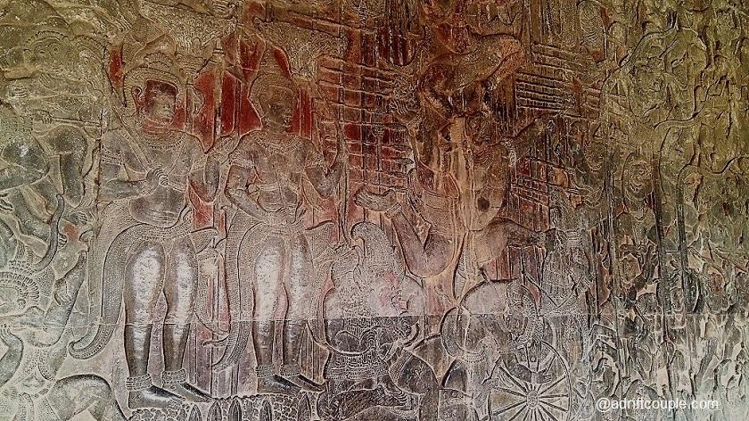 West Gallery Bas Reliefs of Angkor Wat - Ram, Laksman and Hanuman.