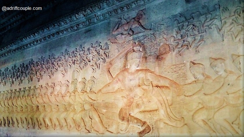 Angkor Wat Bas Reliefs: East Gallery - Churning of the Ocean of Milk