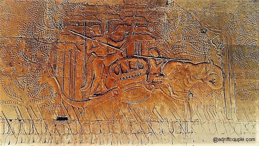 Angkor Wat Bas Relief – Army of King Suryavarman II