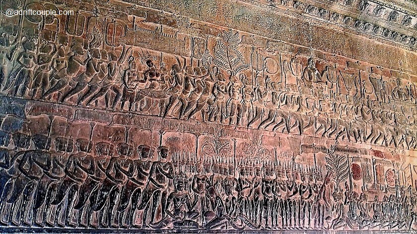 Judgement of Mankind Bas Relief in Angkor Wat, Siem Reap, Cambodia.