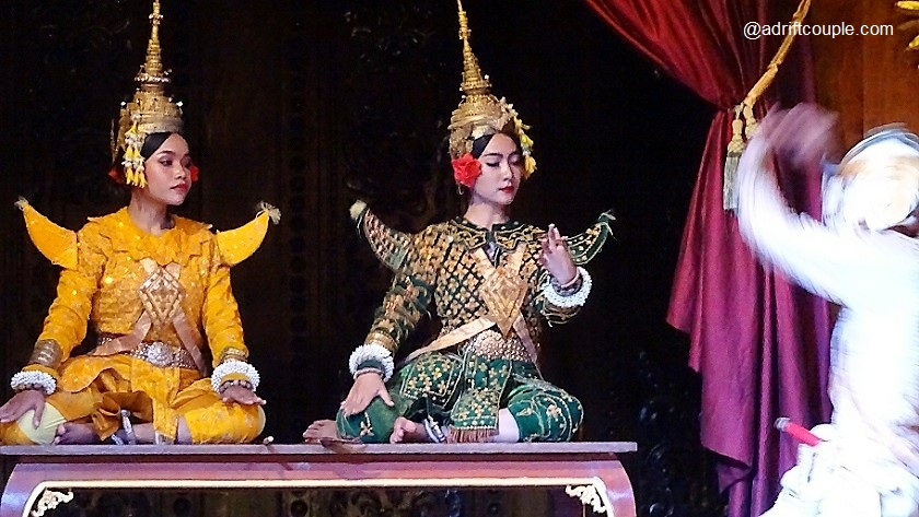 Rama and his younger brother, Lakshmana from a scene from Khmer Ramayana.
