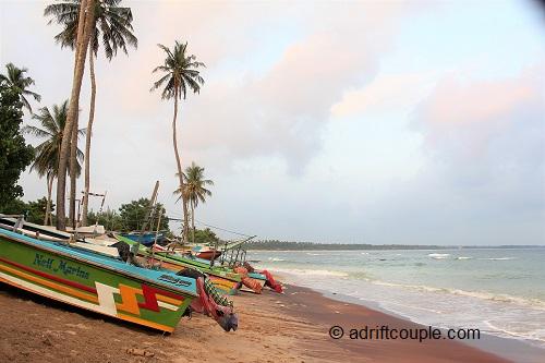 Fishing Village of Rekawa, Sri Lanka.