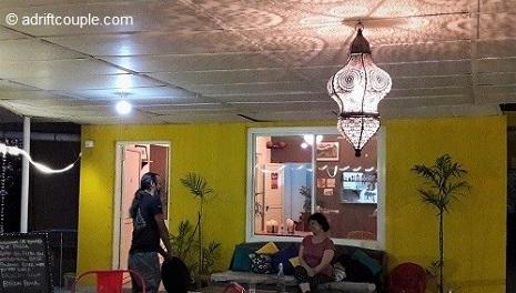 Byron Bay Café, a pleasant terrace eatery on the main street in Bir.