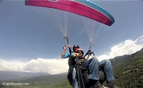 Soaring high in the air at 10000 feet asl at Bir Billing.