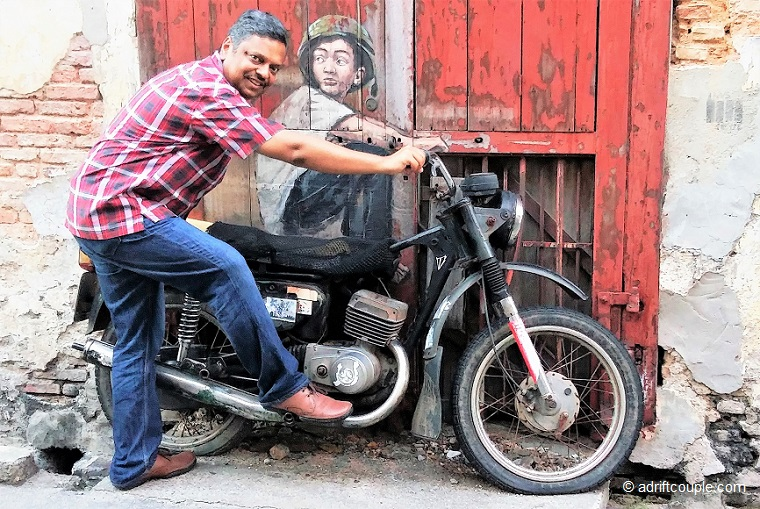 Boy On A Bike, Penang Street Art, Malaysia.