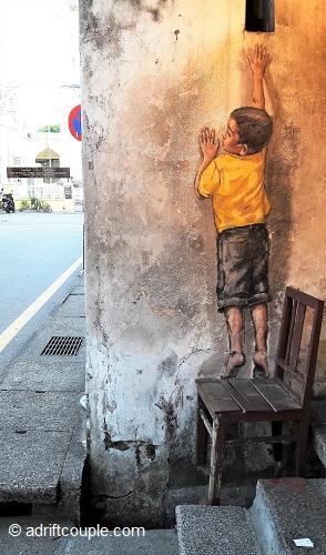 Boy On Chair, Penang Street Art