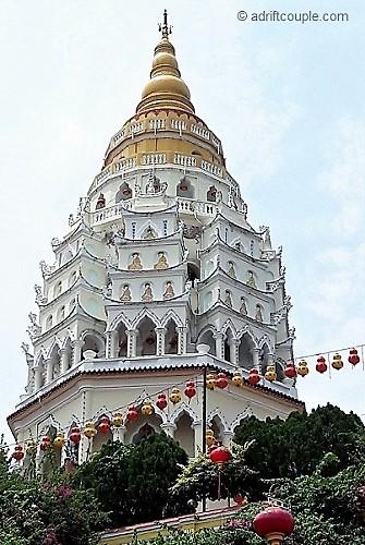 The Pagoda of Ten Thousand Buddhas in Penang, Malaysia.