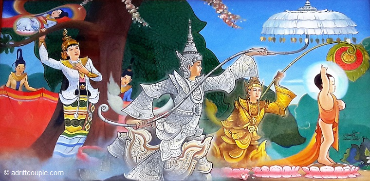 Birth of Buddha, Dhammikarama Temple