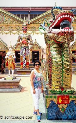 Dragon in Wat Chaiya Temple, Penang