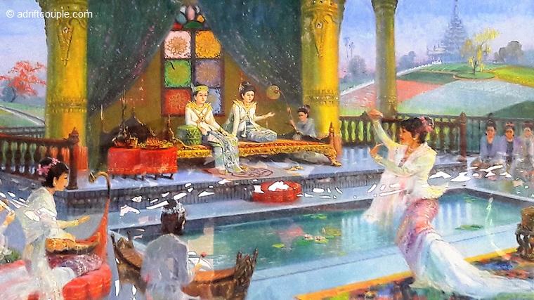 Royal Marriage of Siddhartha, Dhammikarama Temple