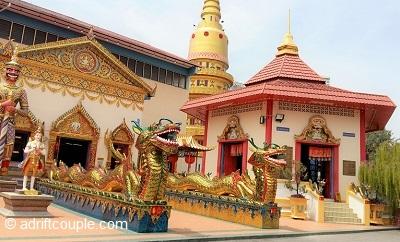Wat Chaiya Thai Buddhist Temple, Penang, Malaysia.