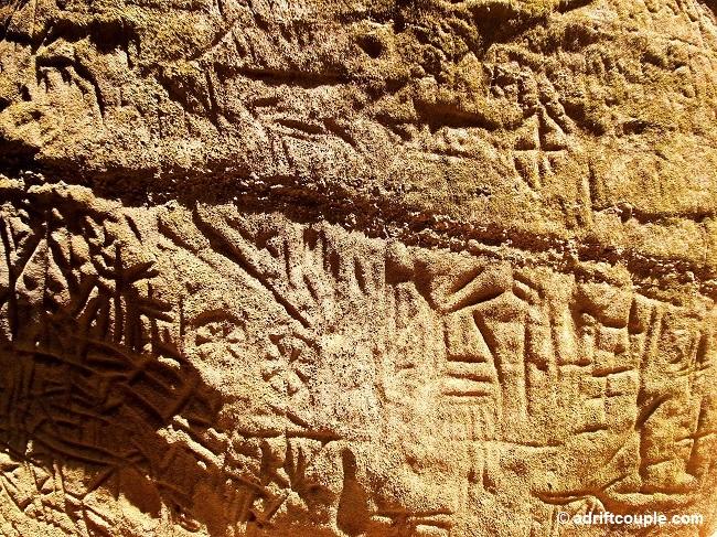 Rock Engravings in the Edakkal Caves, Wayanad, Kerala.