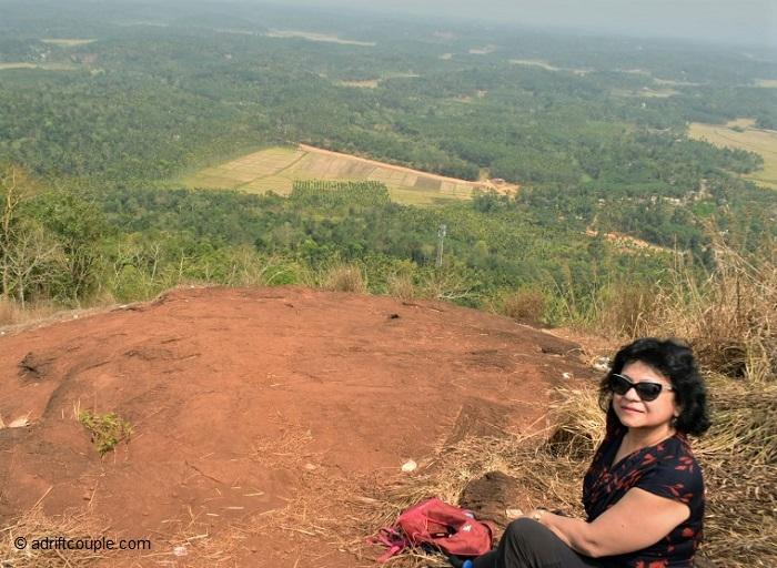 At the top of Kurumbalakota Rock!