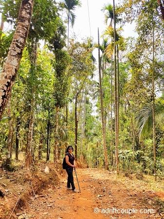 All set for the exciting hike ahead to Kurumbalakotta top, Wayanad, Kerala.